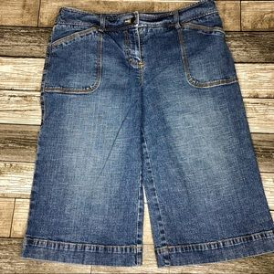 "Capri length Jean ""shorts"""